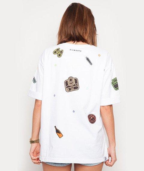 Diamante-Adventure T-shirt Damski Biały