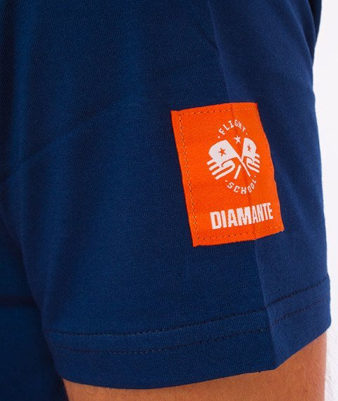 Diamante-Flight Schoolpocket T-Shirt Granatowy