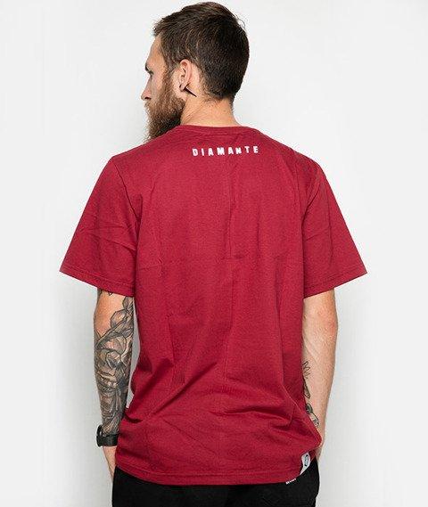 Diamante-Nigdy Się Nie Poddam T-Shirt Bordowy