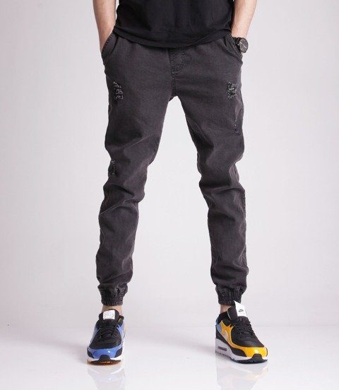 Diamante RM JEANS RIPPED BLACK Jogger