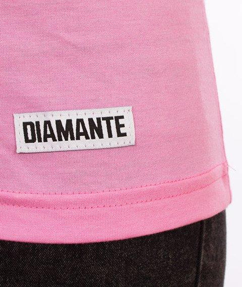 Diamante-Sore T-shirt Damski Pink Melange