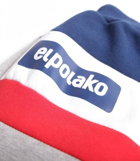 El Polako-3EP CUT Regular Spodnie Dresowe Jasno Szare