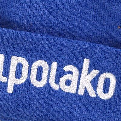 El Polako-BASIC Czapka  zimowa wywijana NIEBIESKI