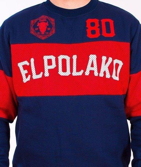 El Polako-Belt Bluza Granatowa