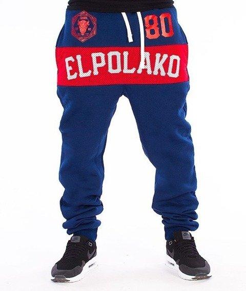 El Polako-Belt Fit Spodnie Dresowe Granatowe