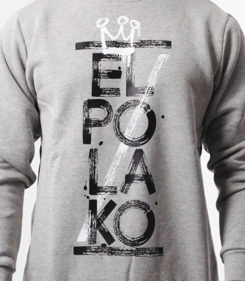 El Polako-Brush Bluza Szara