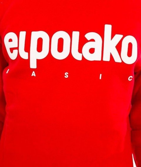 El Polako-Classic Logo Crewneck Bluza Czerwony
