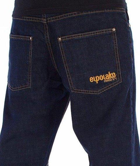El Polako-Classic Slim Spodnie Jeans Ciemne Spranie
