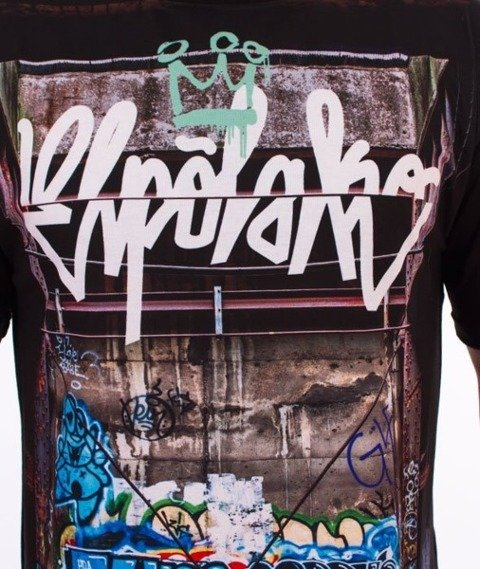 El Polako-Cut Art T-Shirt Czarny