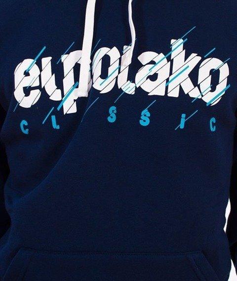 El Polako-Cut Classic Bluza Kaptur Granatowy
