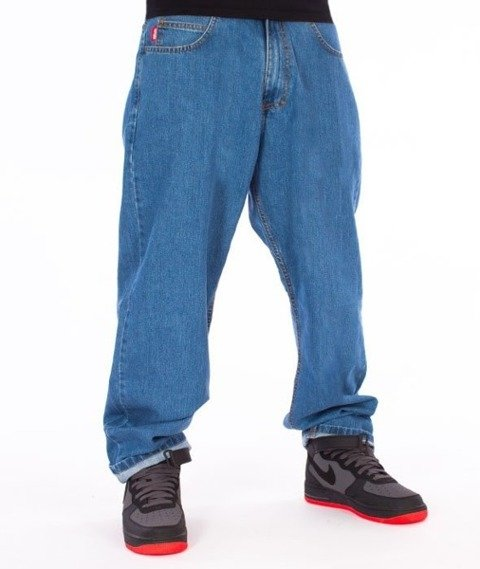 El Polako-Cut Classic Spodnie Baggy Jeans Light Blue