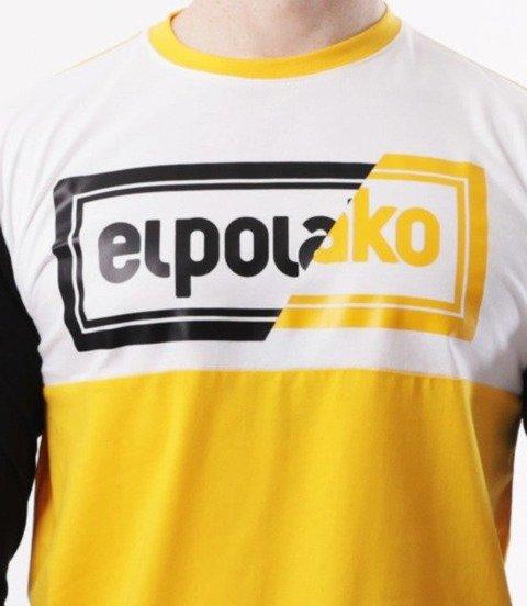 El Polako-Cut Color Longsleeve Żółto Czarny