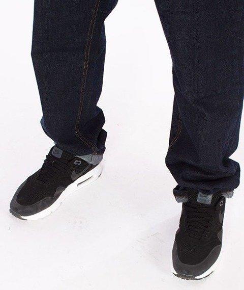 El Polako-Cut Slim Jeans Spodnie Dark Blue