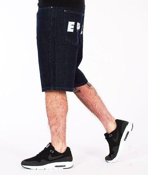 El Polako-ELPK Spodnie Krótkie Jeans Ciemne Spranie