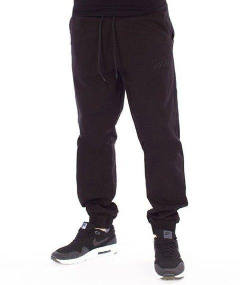 El Polako-EP Basic Jogger Regular z Gumą Tkanina Spodnie Czarny