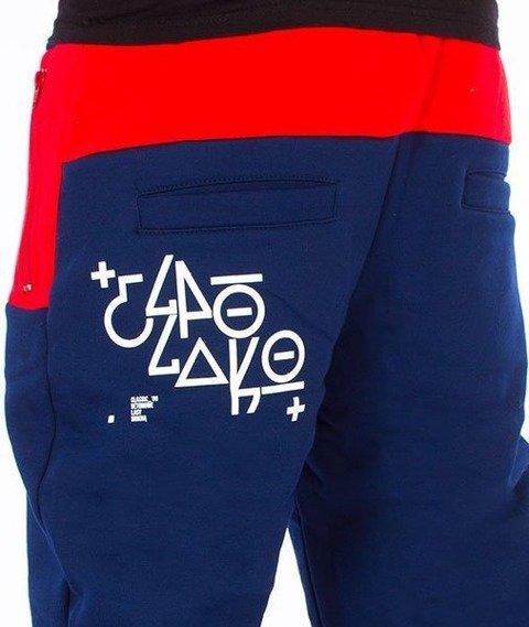 El Polako-EP OX Premium Regular Spodnie Dresowe Granatowe