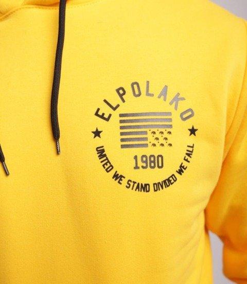 El Polako El Polako 1980 Bluza z Kapturem Żółty