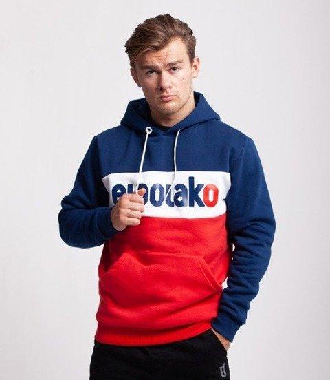 El Polako Elpo New Bluza z Kapturem Granatowy/Czerwony