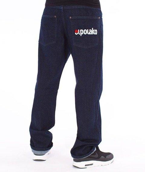El Polako-Elpo New Regular Jeans Spodnie Ciemne Spranie