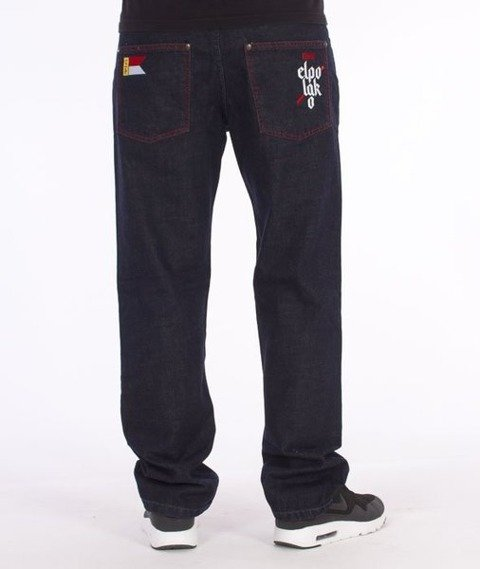 El Polako-Flag Slim Spodnie Jeans Dark Blue