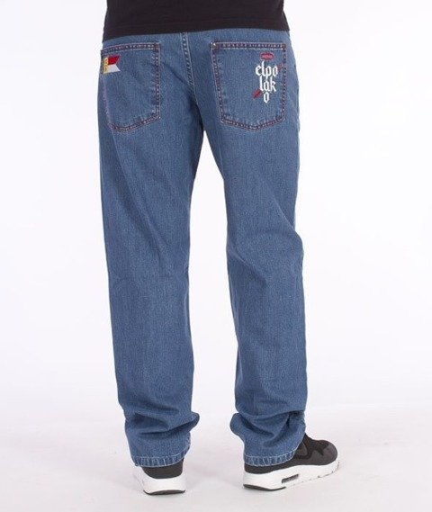 El Polako-Flag Slim Spodnie Jeans Light Blue