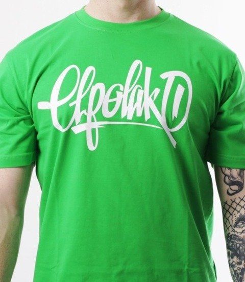 El Polako-Handmade T-Shirt Zielony