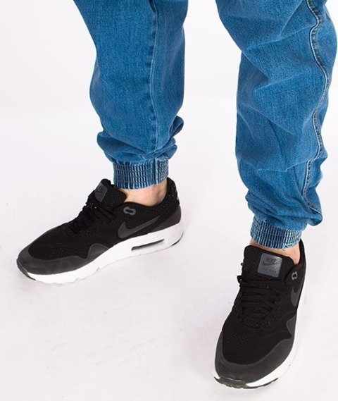 El Polako-Handwritten Jogger Stretch Slim Guma Spodnie Light