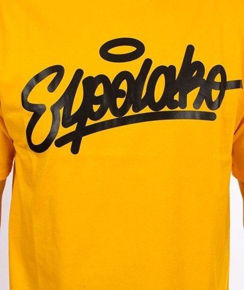 El Polako-Handwritten T-Shirt Żółty