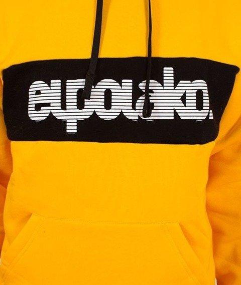 El Polako-Kangurka Alfabet Bluza Kaptur Żółty