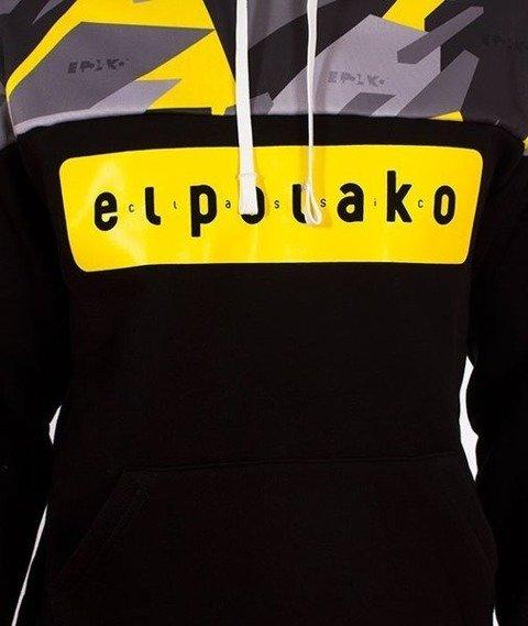 El Polako-Kangurka Half Bluza Kaptur Triangle Moro Yellow