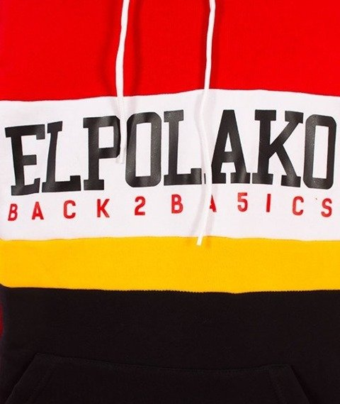 El Polako-Kangurka School Bluza Kaptur Czerwony