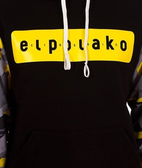 El Polako-Kangurka Sleeve Bluza Kaptur Triangle Moro Yellow