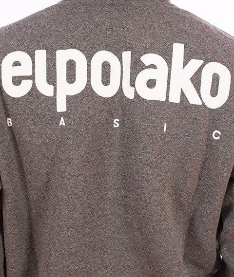 El Polako-Little Classic Crewneck Bluza Ciemny Szary