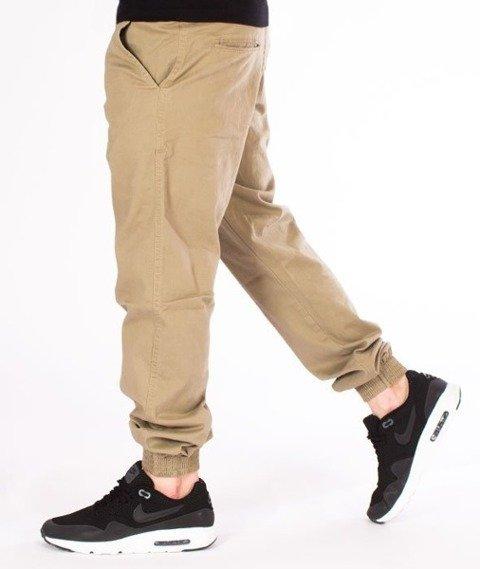 El Polako-Logo Classic Jogger Stretch Regular Spodnie Beżowe