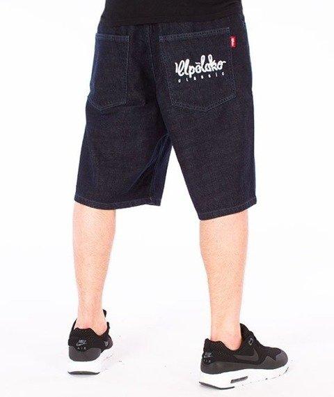 El Polako-Logo Cut Spodnie Krótkie Jeans Dark Blue