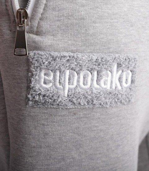 El Polako-Logobox Fit Spodnie Dresowe Jasno Szare