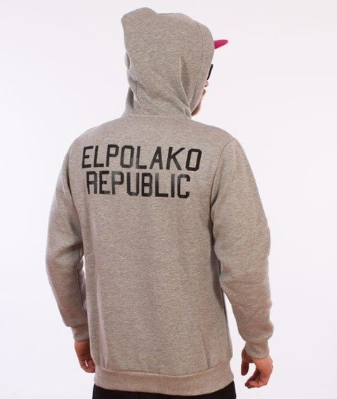 El Polako-Mini Republic Bluza Kaptur Szary