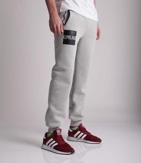 El Polako-New Box Regular Spodnie Dresowe Jasno Szare