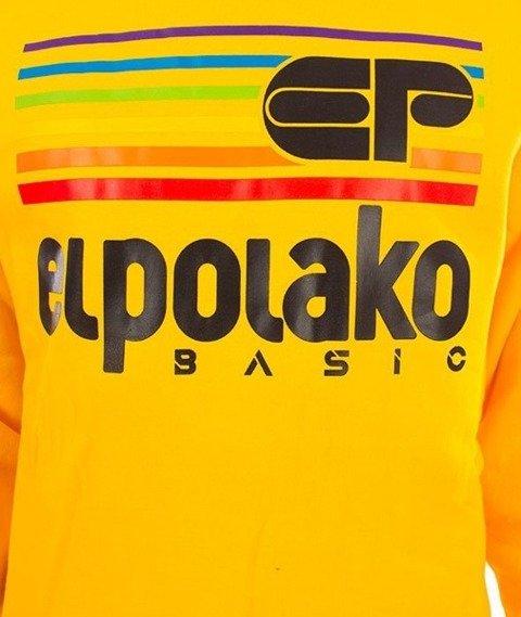 El Polako-Rainbow Crewneck Bluza Żółty