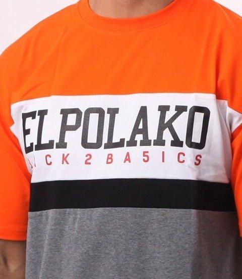 El Polako-School T-Shirt Pomarańcz