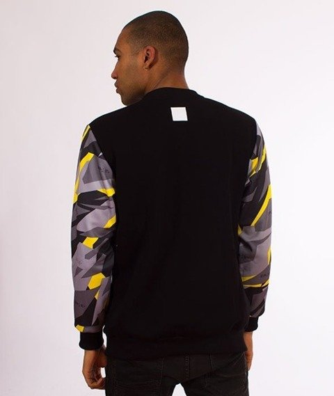El Polako-Sleeve Crewneck Bluza Triangle Camo Yellow