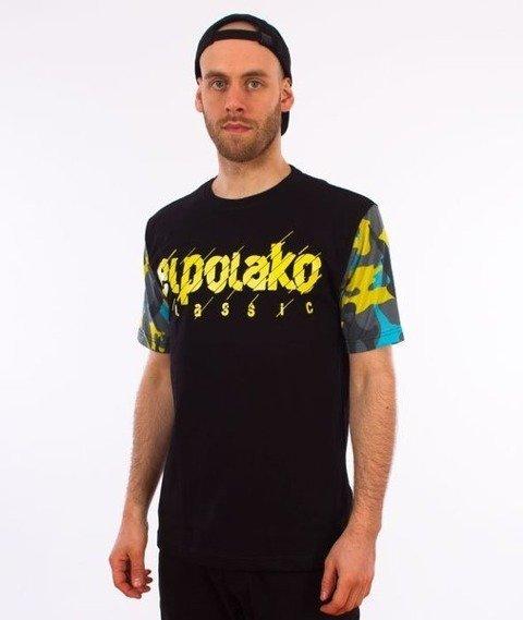 El Polako-Sleeve Moro EP Cut T-Shirt Czarny