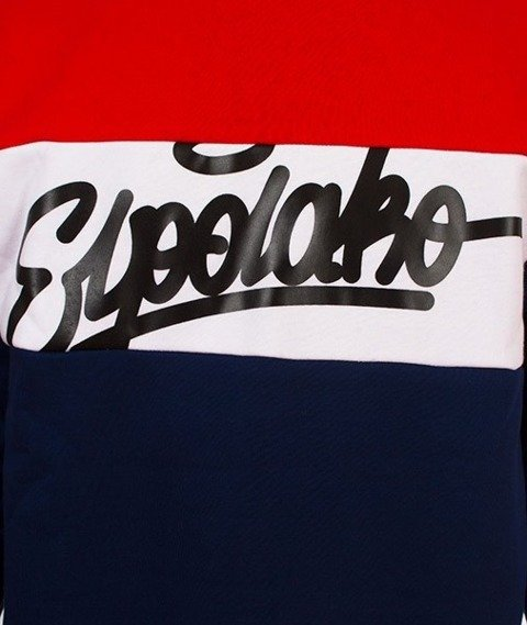 El Polako-Three Colors Crewneck Bluza Granatowa/Czerwona