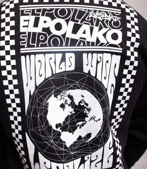 El Polako WORLD WIDE Bluza Czarny