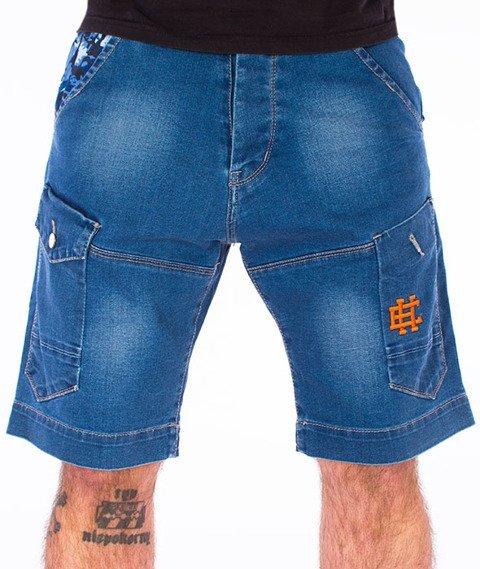 Extreme Hobby-Cargo Jeans Spodnie Krótkie Jasne Niebieskie