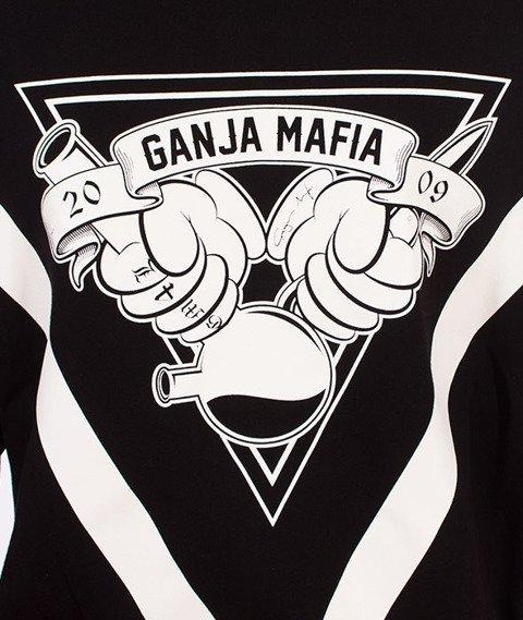 Ganja Mafia-Cartoon GM Bluza Kaptur Zip Czarna