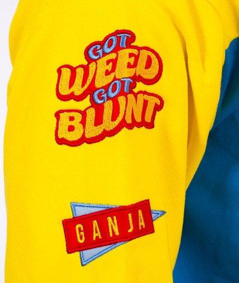 Ganja Mafia-Patch Ganja Mafia Colours Bluza Niebieska/Żółta