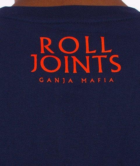 Ganja Mafia-Roll Joints T-Shirt Granatowy/Pomarańczowy