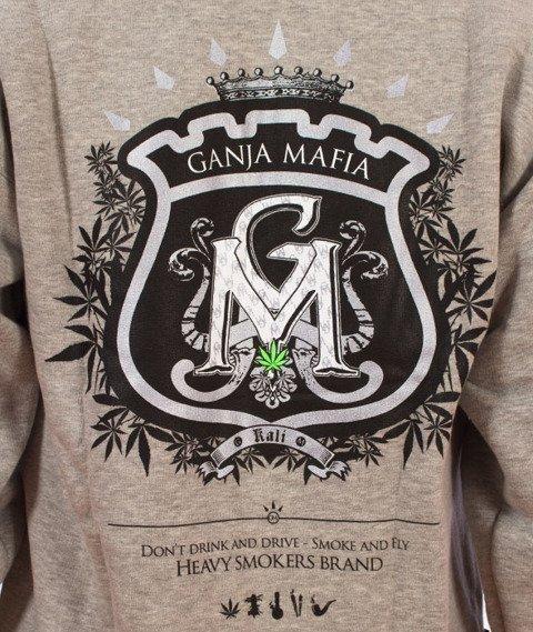 Ganja Mafia-Zip Herb Bluza Kaptur Gray/Black