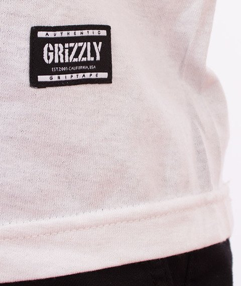 Grizzly-Draft Pick Pocket T-Shirt White